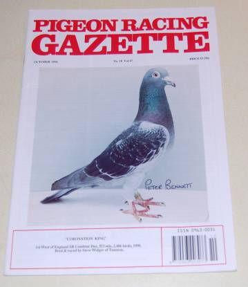 Image for Pigeon Racing Gazette No 10 Vol 47 Oct 1991