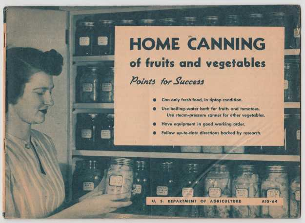 Image for Home Canning of Fruits and Vegetables Points for Success