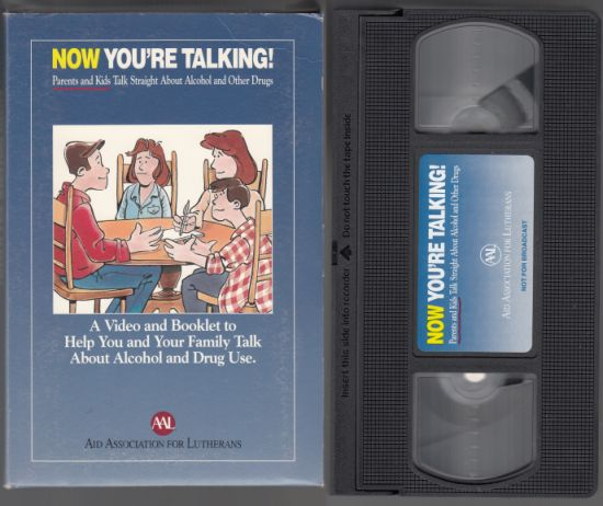 Image for Now You're Talking Parents and Kids Straight Talk About Alcohol and Other Drugs Book & VHS Tape Set in Slipcase