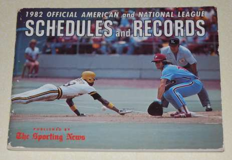 Image for 1982 Official American and National League Schedules and Records (Baseball)