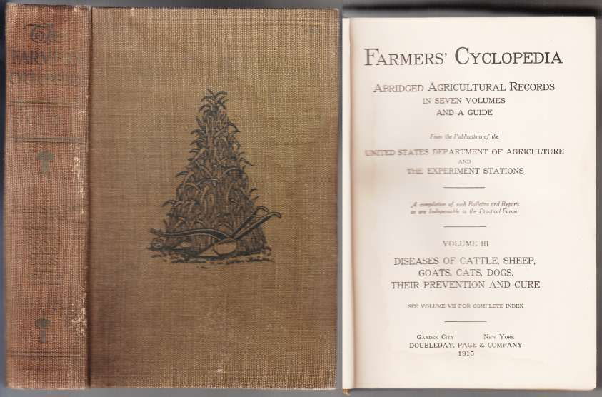Image for Farmers' Cyclopedia Volume III Diseases of Cattle, Sheep, Goats, Cats, Dogs. Their Prevention and Cure