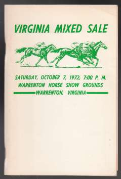 Image for Virginia Mixed Sale  Warrenton, VA  Sat. Oct 7, 1972