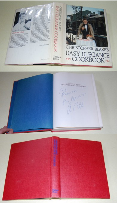 Image for Christopher Blake's Easy Elegance Cookbook  SIGNED