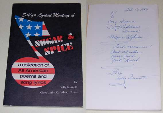 Image for Sugar & Spice  A Collection of All American Poems & Song Lyrics  SIGNED
