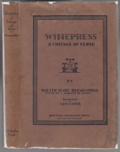 Image for Winepress  A Vintage of Verse  SIGNED