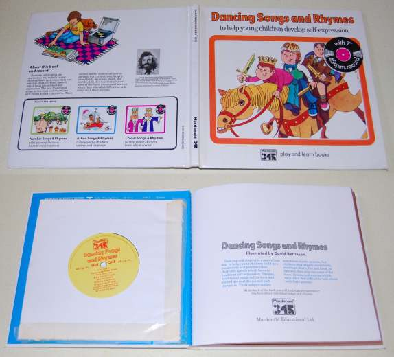 Image for Dancing Songs and Rhymes To Help Young Children Develop Self-Expression 45 RPM Record Included