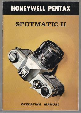 Image for Honeywell Pentax Spotmatic II Operating Manual