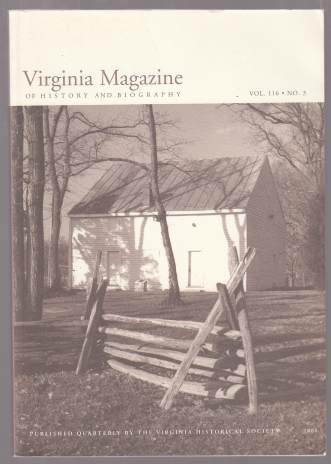 Image for Virginia Magazine of History and Biography Vol. 116. No. 3. 2008