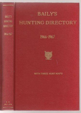 Image for Baily's Hunting Directory with Hunt Maps 1966-67 Number 60