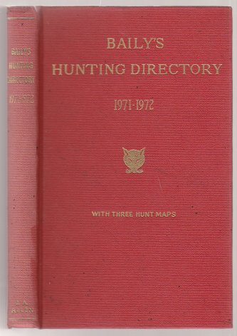 Image for Baily's Hunting Directory with Hunt Maps 1971-72 Number 65
