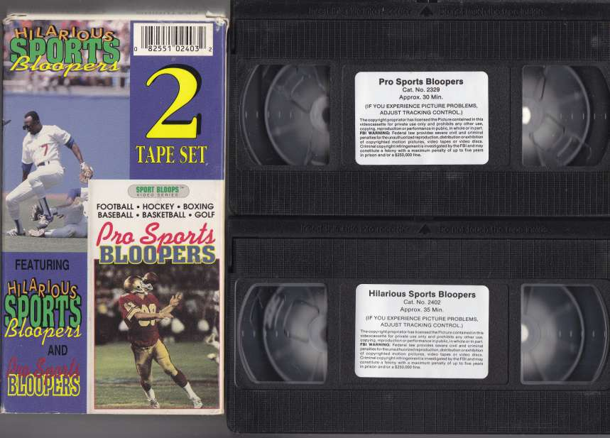 Image for Pro Sports Bloopers 2 VHS Tape Set Includes Pro Sports Bloopers and Hilarious Sports Bloopers