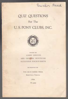Image for Quiz Questions with Answers for the U.S. Pony Clubs
