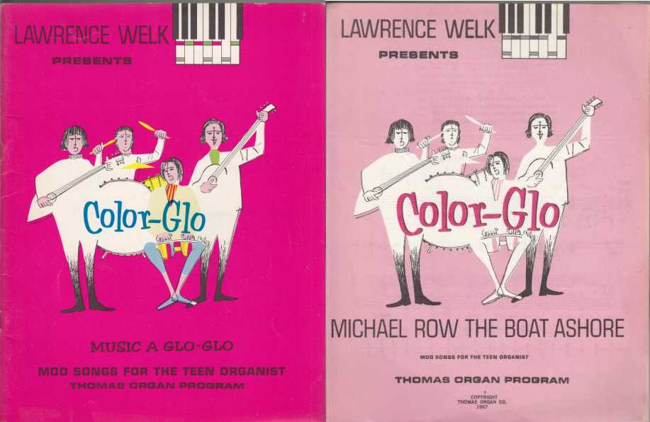 Image for Lawrence Welk Presents Color-Glo Music A Glo-Glo  An Easy Method for the Teen Organist  Main Book Plus  5 Sheet Music Books