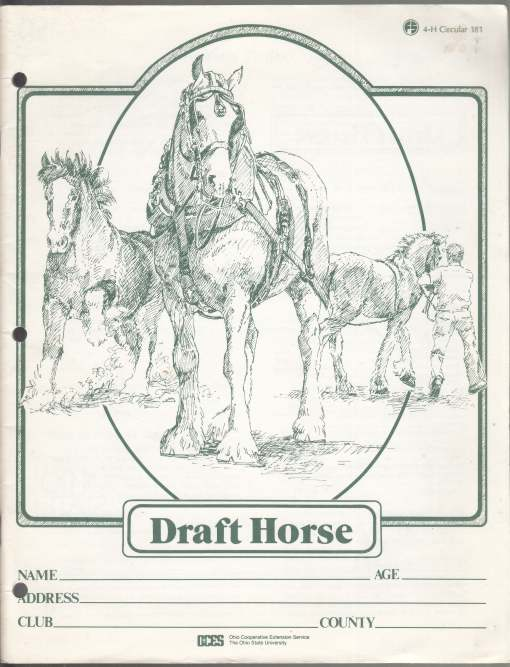 Image for Draft Horse. 4-H Project Record Book #181 w/Add'l Material