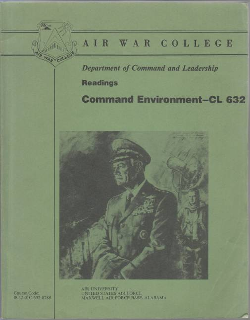 Image for Department of Command and Leadership Command Environment - CL 632 AY 1988-89