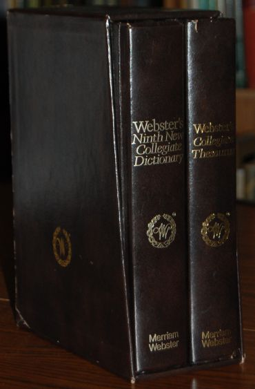 Image for SLIPCASED SET: Webster's Ninth New Collegiate Deluxe Dictionary and Thesaurus