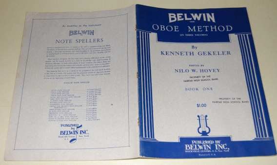 Image for Belwin Inc. Oboe Method in Three Volumes, Book One