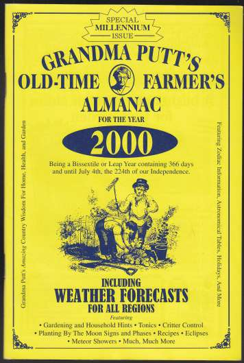 Image for Grandma Putt's Old-Time Farmer's Almanac for the Year 2000. Special Millennium Issue