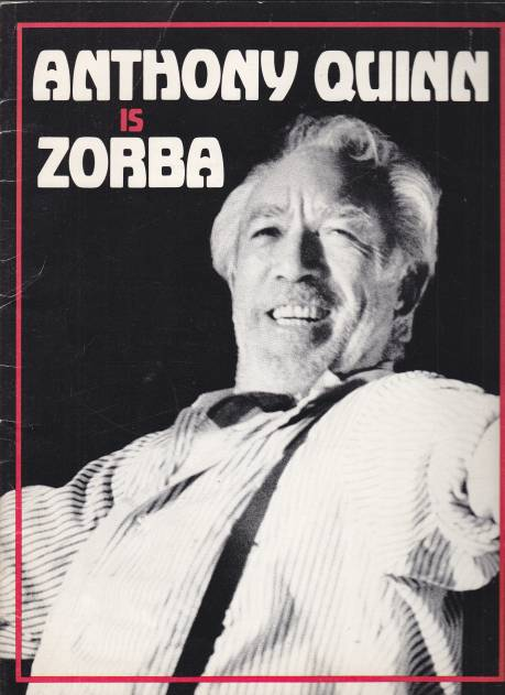 Image for Anthony Quinn is Zorba Souvenir Programme w/ Brief Actor Bio Sheet Laid In