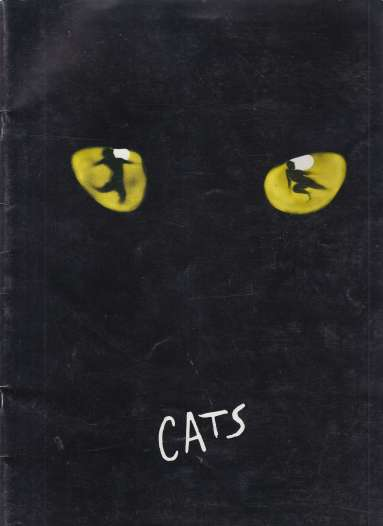 Image for Cats  Broadway Play Souvenir Brochure w/Cast of Characters Brief Bio Sheet Laid in