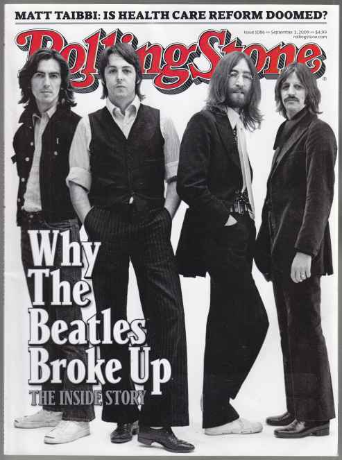 Image for Rolling Stone  Why The Beatles Broke Up Issue 1086 September 3, 2009