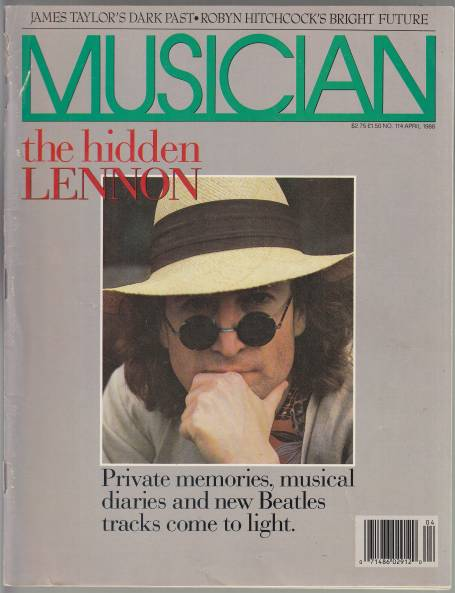Image for Musician Magazine  John Lennon Cover: The Hidden Lennon: Private Memories, Musical Diaries and New Beatles Tracks Come to Light