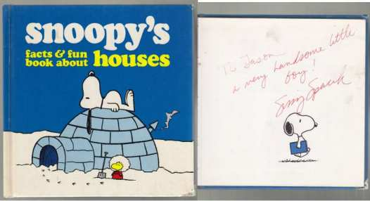 Image for Snoopy's Facts & Fun Book About Houses  SIGNED  FROM SISSY SPACEK TO JASON