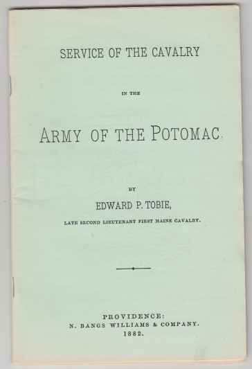 Image for Service of the Cavalry In The Army Of The Potomac