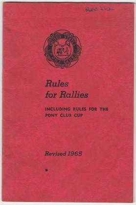 Image for Rules For Rallies Including Rules For The Pony Club Cup. Revised 1965