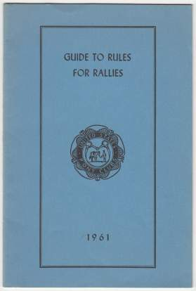 Image for Guide To Rules For Rallies 1961 United States Pony Club
