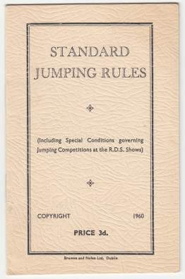 Image for Standard Jumping Rules Including Special Conditions Governing Jumping Competition at the R.D.S. Shows  (Royal Dublin Society)