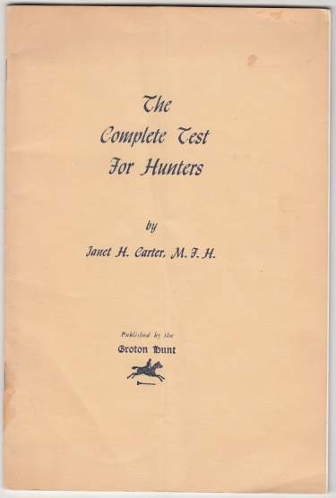 Image for The Complete Test For Hunters by The Groton Hunt Club of Massachusetts