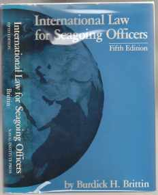 Image for International Law For Seagoing Officers Fifth Edition  SIGNED