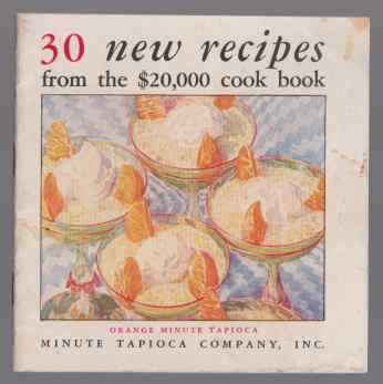 Image for 30 New Recipes from the $20,000 Cook Book