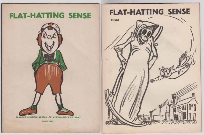 Image for Flat-Hatting Sense Aug 1943. Wise-guy, Show-Off's Warning Pamphlet