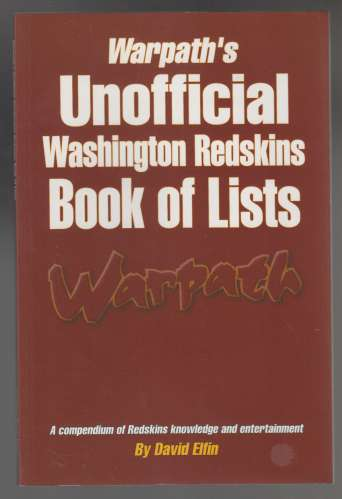 Image for Warpath's Unofficial Washington Redskins Book of Lists