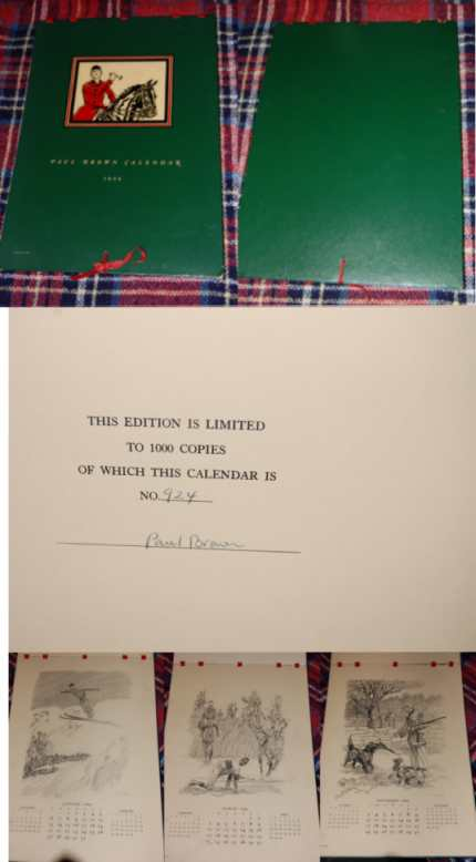 Image for Paul Brown Calendar 1946  Signed, Limited, Numbered