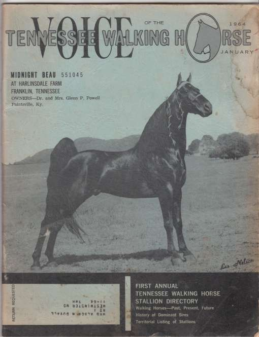 Image for Voice of the Tennessee Walking Horse. January 1964. Vol 5, No. 1.