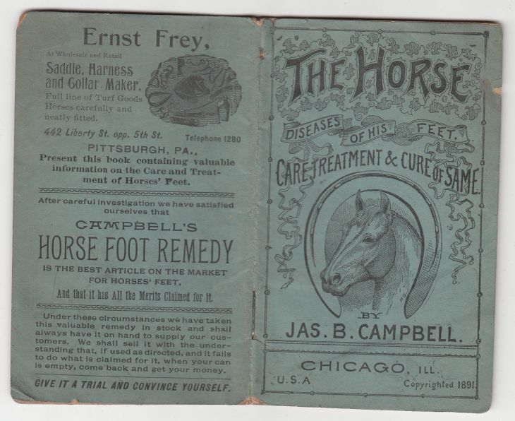 Image for The Horse  Diseases Of His Feet  Care, Treatment & Cure of Same