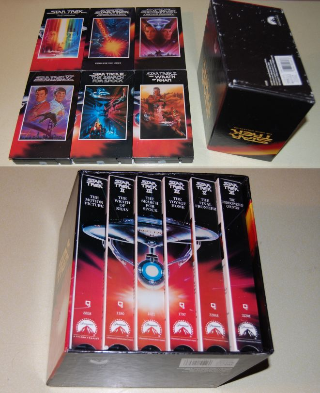 Image for Star Trek The Movie Collection. 6 Fine VHS Movies in Near Fine Slipcase