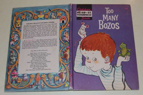 Image for Too Many Bozos  Golden Read-It Yourself Book