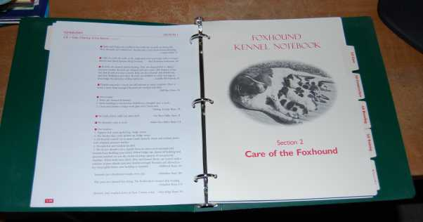 Image for Foxhound Kennel Notebook Third Edition Three Ring Binder