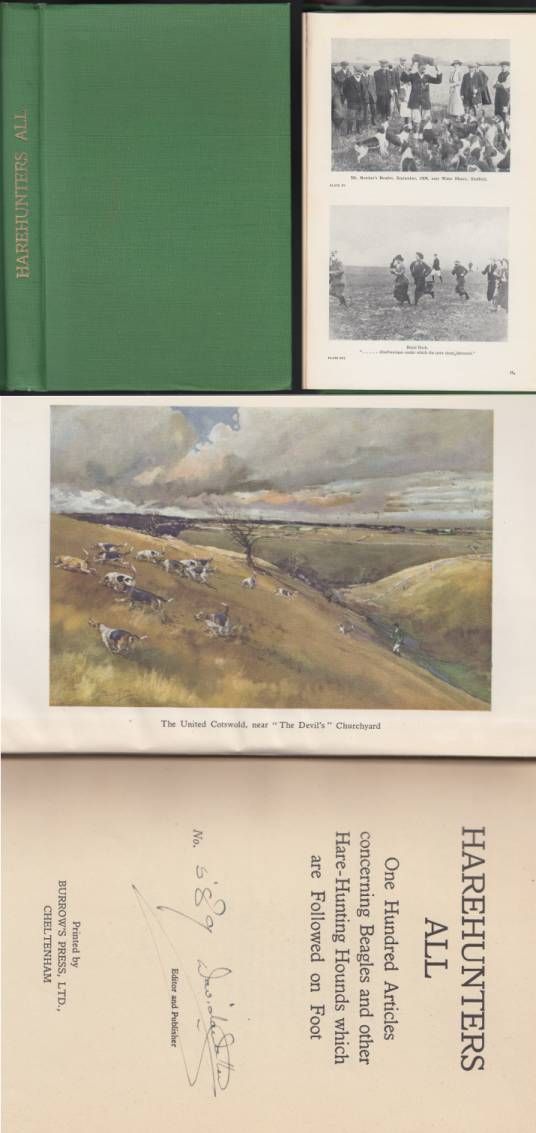 Image for Harehunters All  One Hundred Articles Concerning Beagles and Other Hare-Hunting Hounds Which are Followed on Foot. Signed, Numbered, Limited 1st Edition