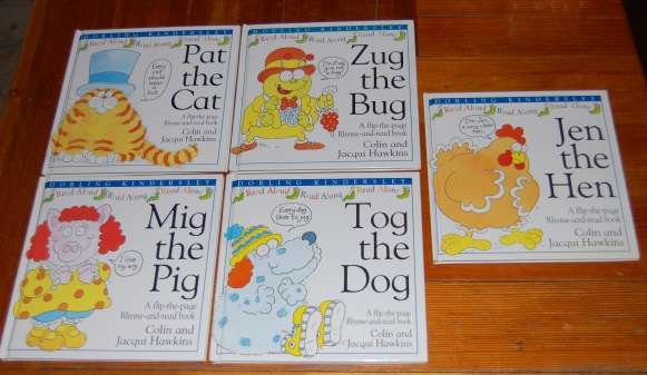 Image for Complete 5 Book Series: Level 1, Preschool - K.  Jen the Hen, Mig the Pig, Pat the Cat, Tog the Dog, Zug the Bug.