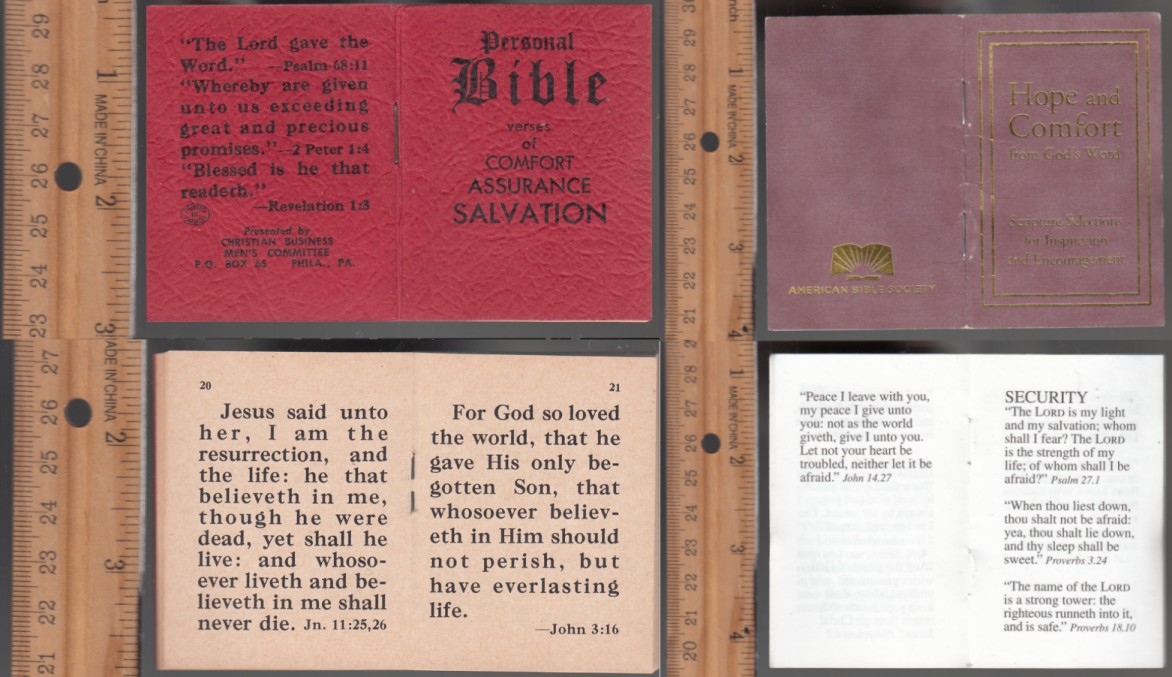 Image for Personal Bible  Verses of Comfort Assurance Salvation & Bonus Book:  Hope and Confort from God's Word Miniature Booklets