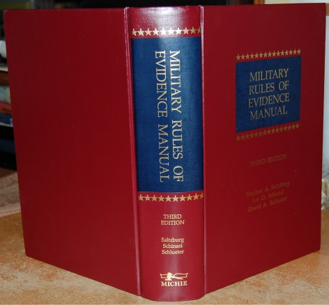 Image for Military Rules of Evidence Manual  Third Edition w/Cumulative Supplement