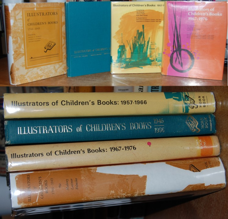 Image for Illustrators of Children's Books 1744-1945, 1946-1956, 1957-1966, 1967-1976, Four Vols, 3 in DJ, 2 Exlib Nice Set!