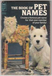 Image for The Book of Pet Names
