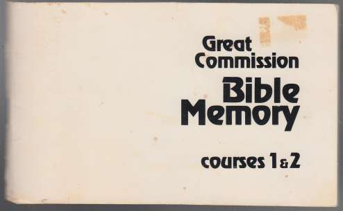 Image for Great Commission Bible Memory Courses 1 & 2