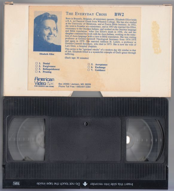 Image for The Everyday Cross  BW2. Session 1: Denial  VHS TAPE IN SLEEVE